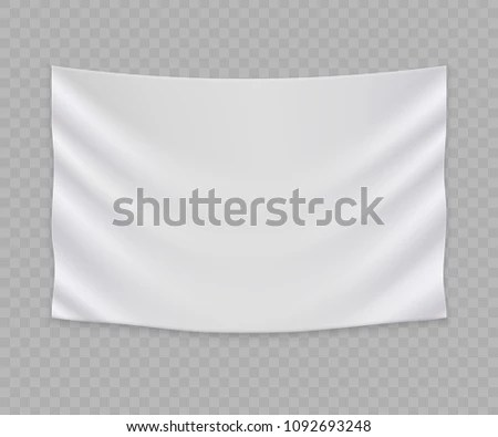 White Blank Flag Banner Template Stock Vector (Royalty Free