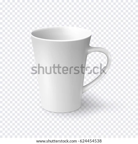 White Coffee Mug Isolated On Transparent Stock Vector (Royalty Free