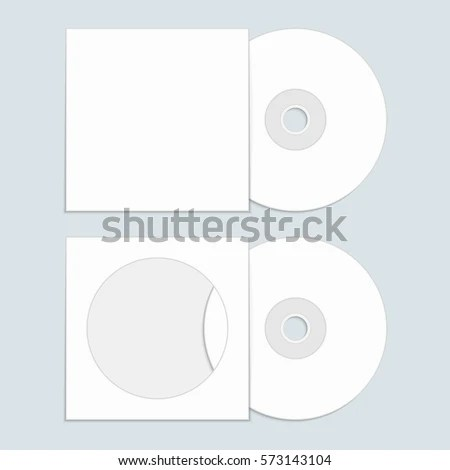 White Compact Disk Cover Mock Template Stock Vector (Royalty Free