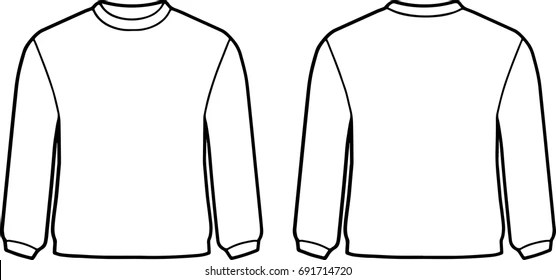 White Sweater Template Stock Vector (Royalty Free) 691714720