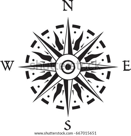 Wind Rose Compass Design Stock Vector (Royalty Free) 667015651
