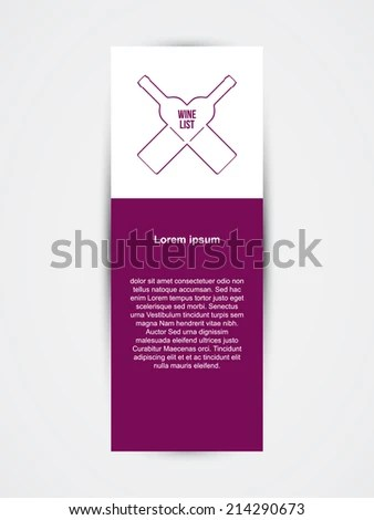 Wine List Template Wine Bottles Vector Stock Vector (Royalty Free