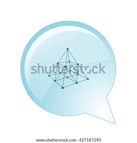 Wire Frame Shape Pyramid Connected Lines Stock Vector (Royalty Free