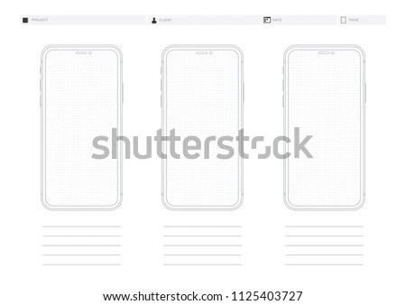 Wireframe Display Template Vector Dotted Paper Stock Vector (Royalty