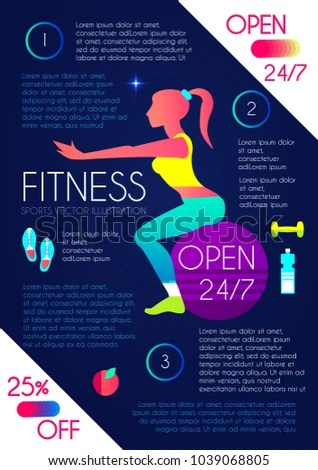 Woman Fitness Workout Girl Sports Health Stock Vector (Royalty Free