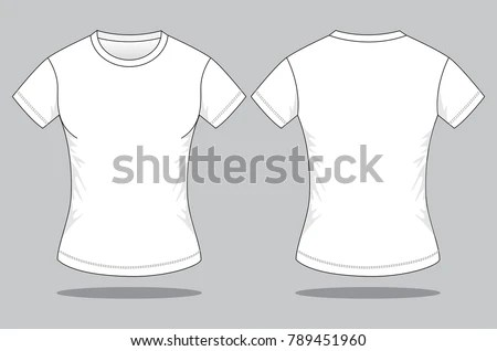 Womens White T Shirt Template Front Stock Vector (Royalty Free