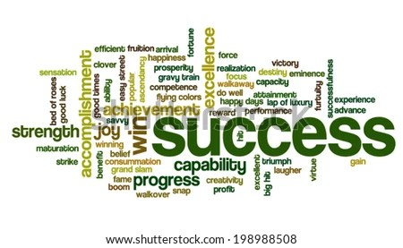 Word Cloud Containing Words Related Success Stock Vector (Royalty - words for achievement