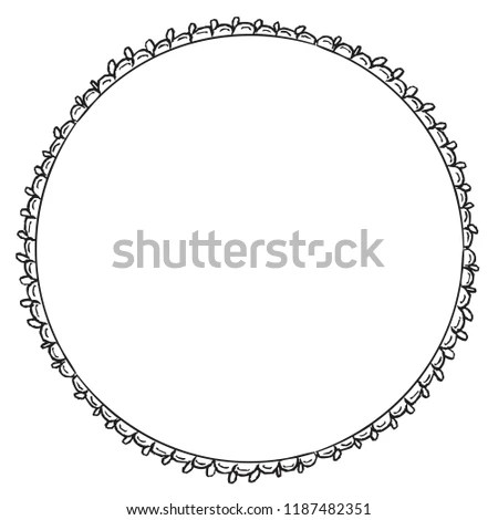 Wreath Boarder Frame Stock Vector (Royalty Free) 1187482351