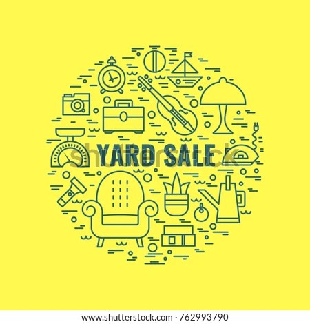 Yard Sale Sign Template Poster Banner Stock Vector (Royalty Free