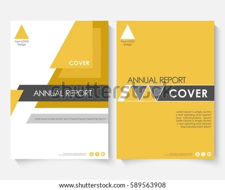 Yellow Marketing Cover Design Template Annual Stock Vector (Royalty