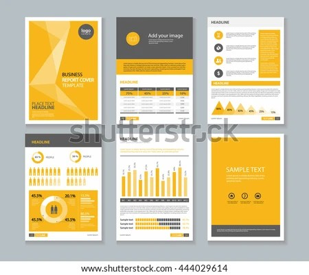 Yellow Page Business Company Profile Annual Stock Vector (Royalty