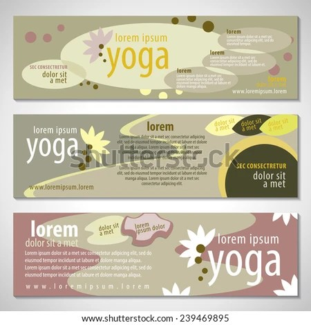 Yoga Flyer Template Vector Illustration Graphic Stock Vector
