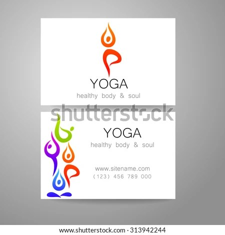 Yoga Logo Sign Design Business Cards Stock Vector (Royalty Free