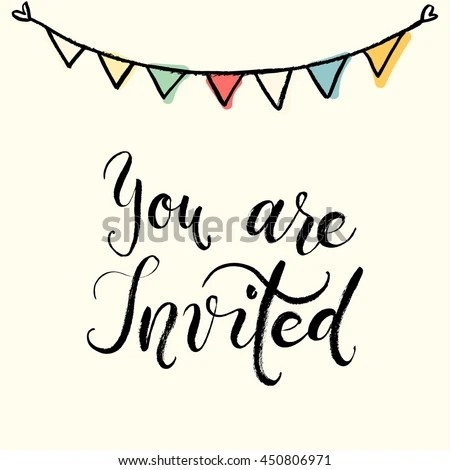 You Invited Party Invitation Card Vector Stock Vector (Royalty Free