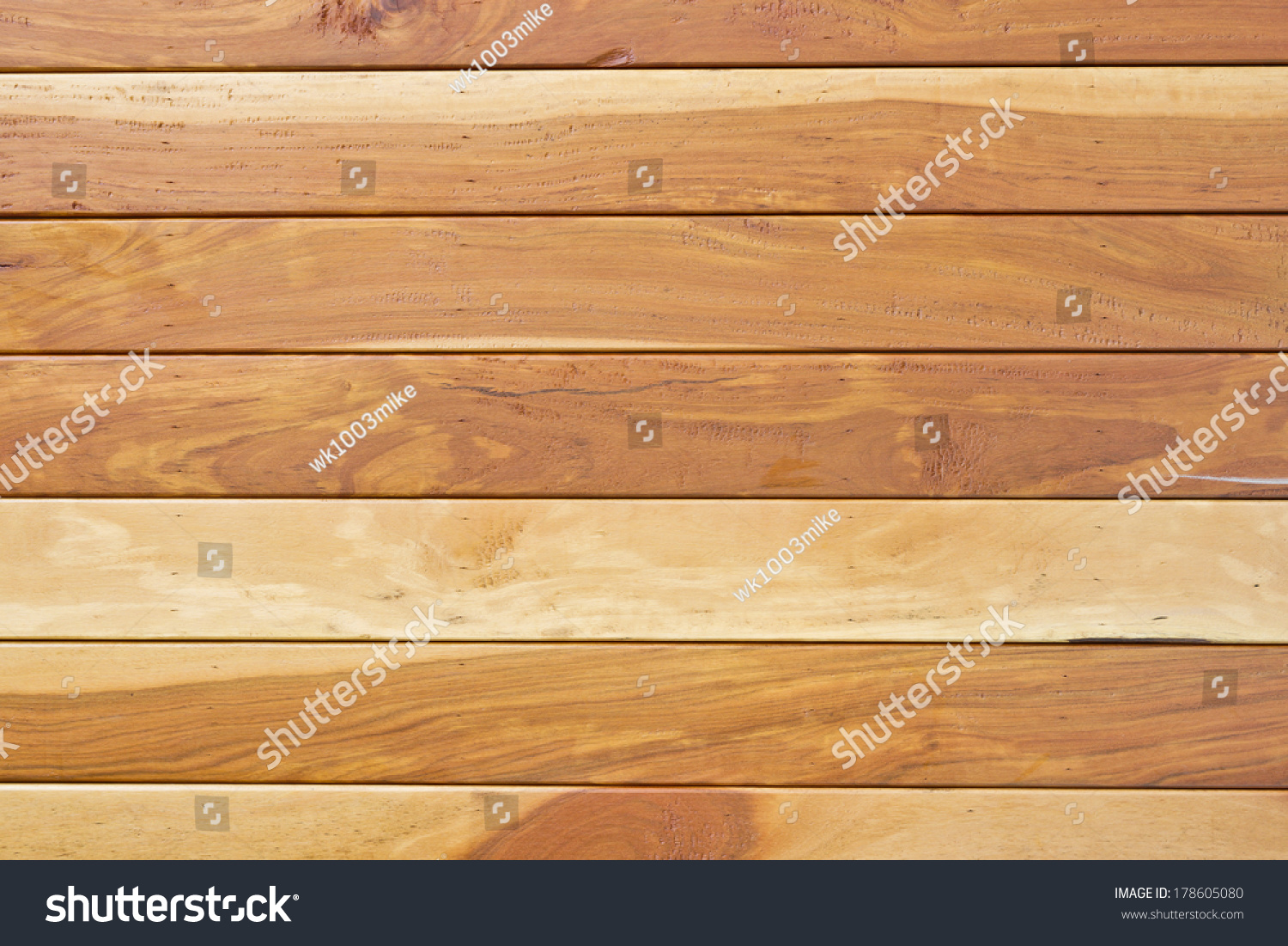 Teak Wandplank Teak Wood Plank Texture With Natural Stock Photo 178605080