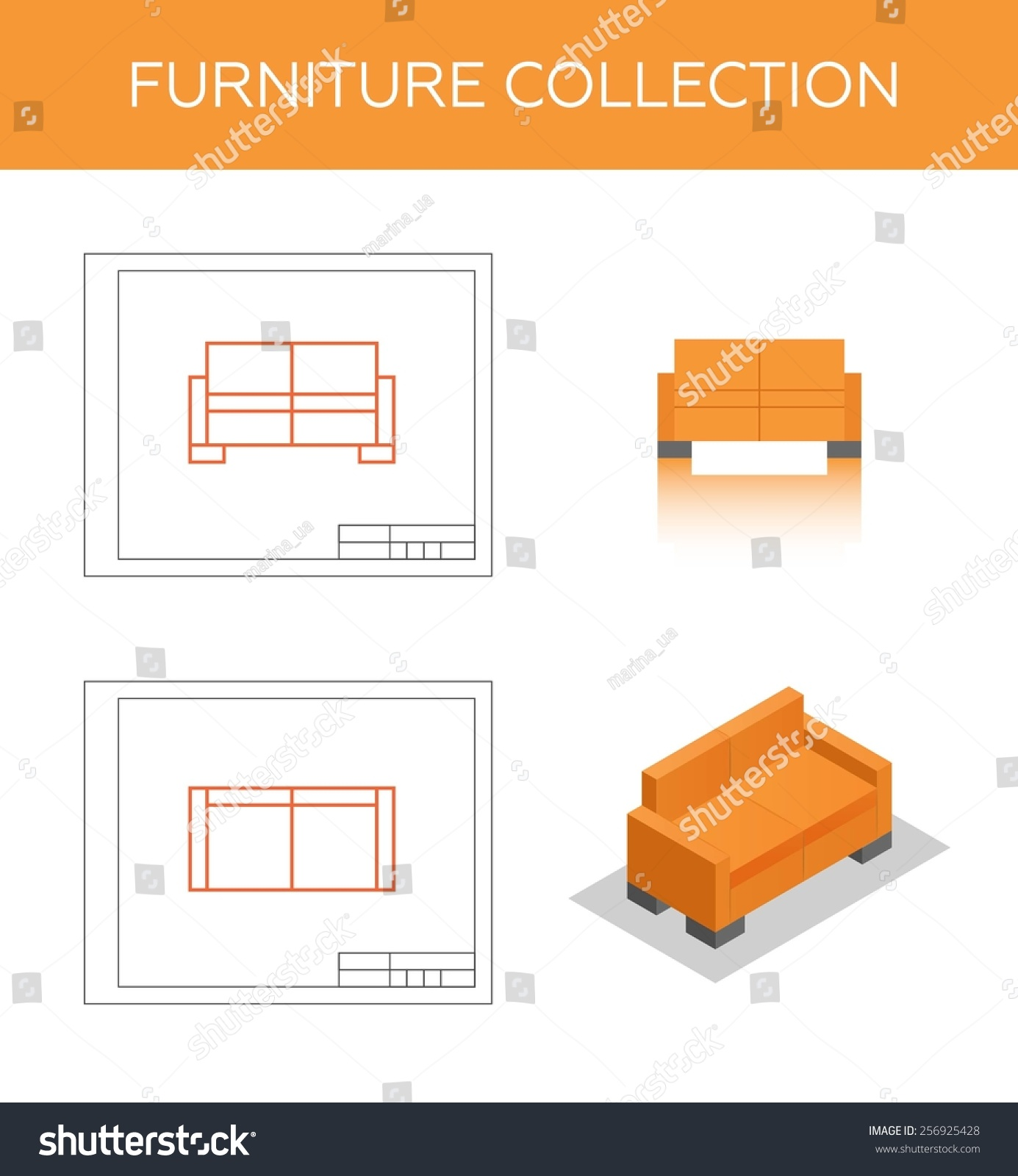 Sofa Vector Free Royalty Free Isometric Icon Of A Sofa Vector Two 256925428