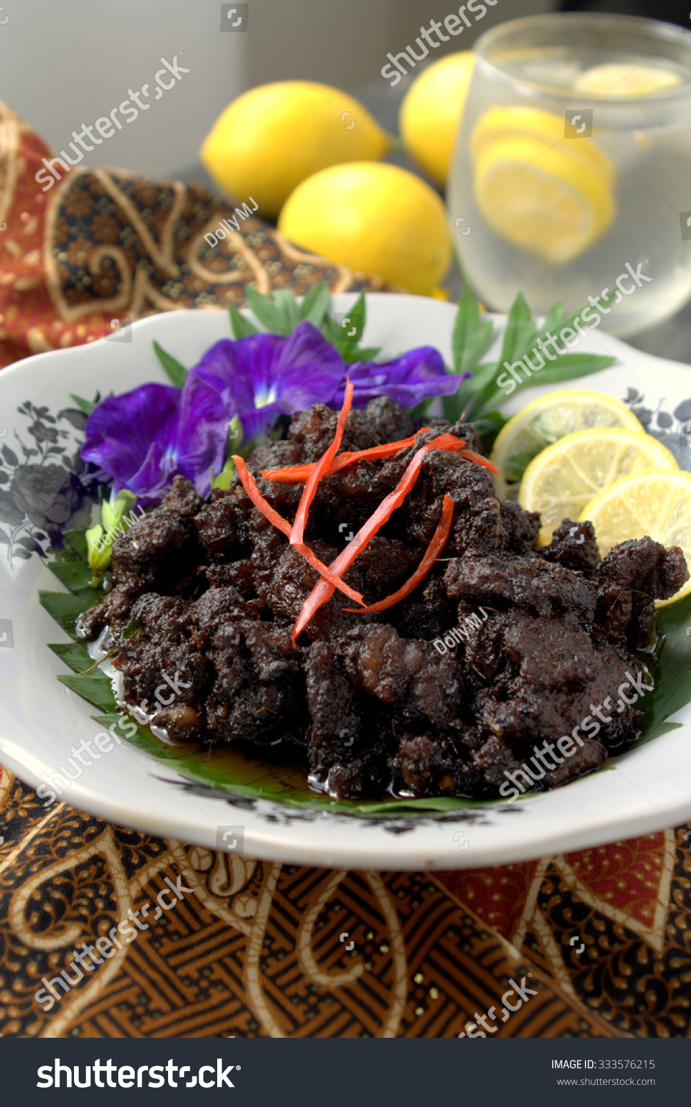 Background Masak Royalty Free Daging Masak Hitam Beef Cooked With 333576215