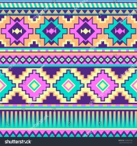 Royalty-free Neon pastel multicolor tribal seamless ...