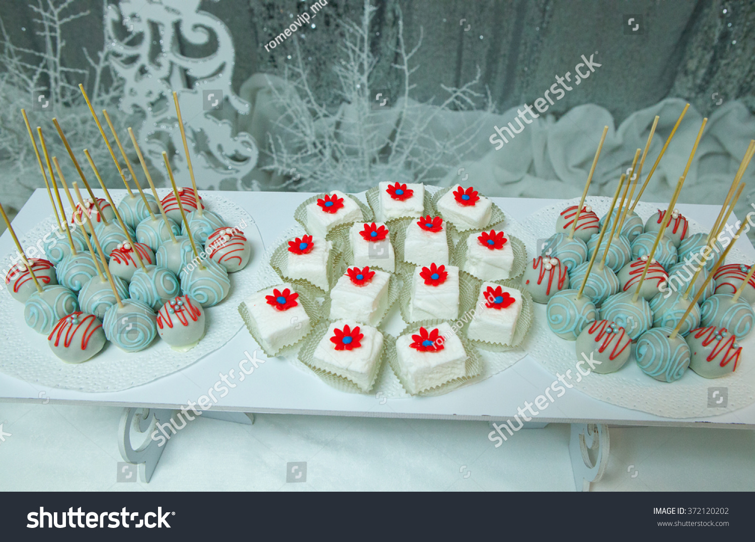 shutterstock wedding candy bar candy bar table wedding candy bar Wedding candy bar Candy bar Table with sweet candies Wedding cakes Candy bar on wedding ceremony Stock Photo