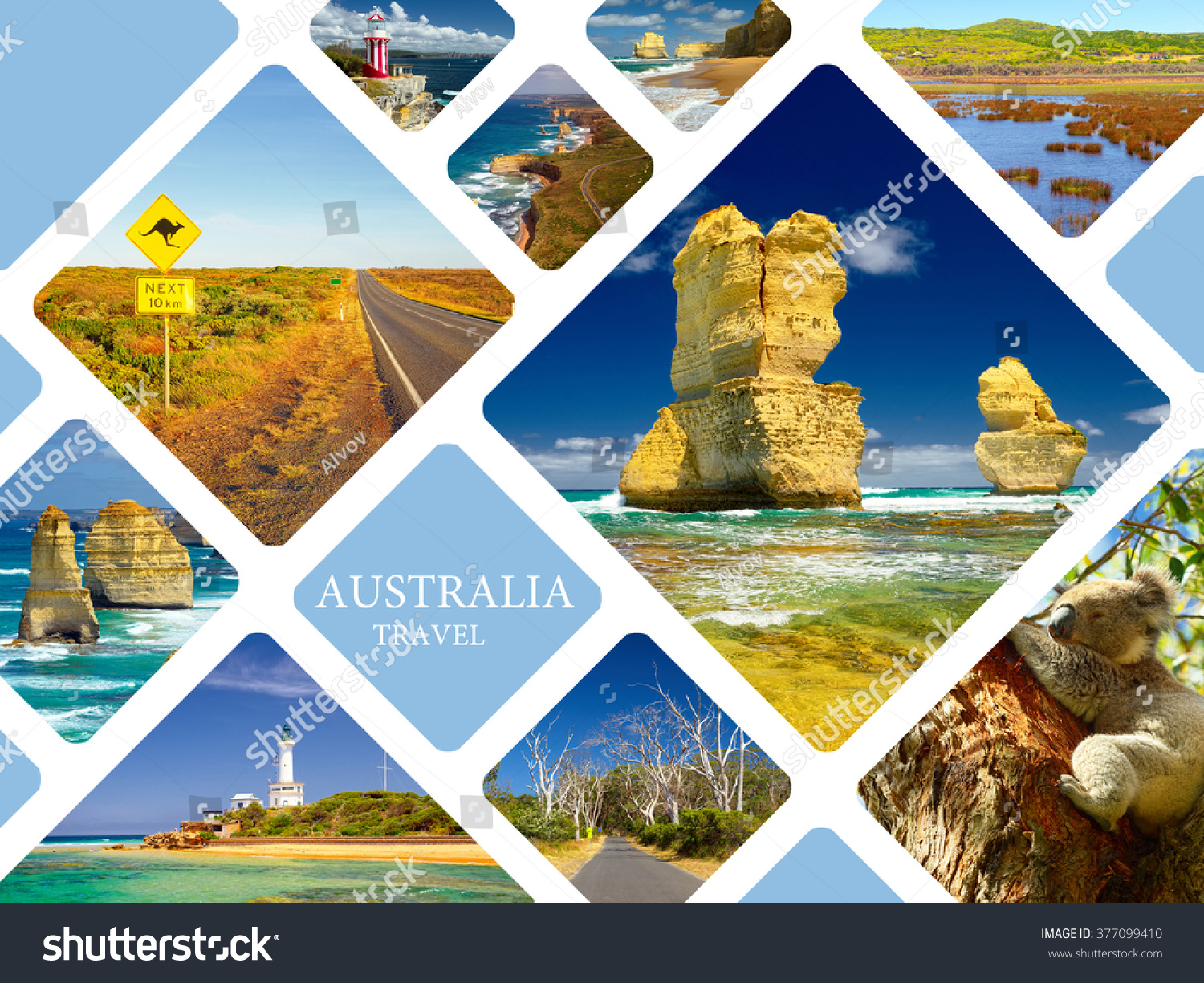 Collage Frames Australia Royalty Free Photo Collage Australia Great Ocean