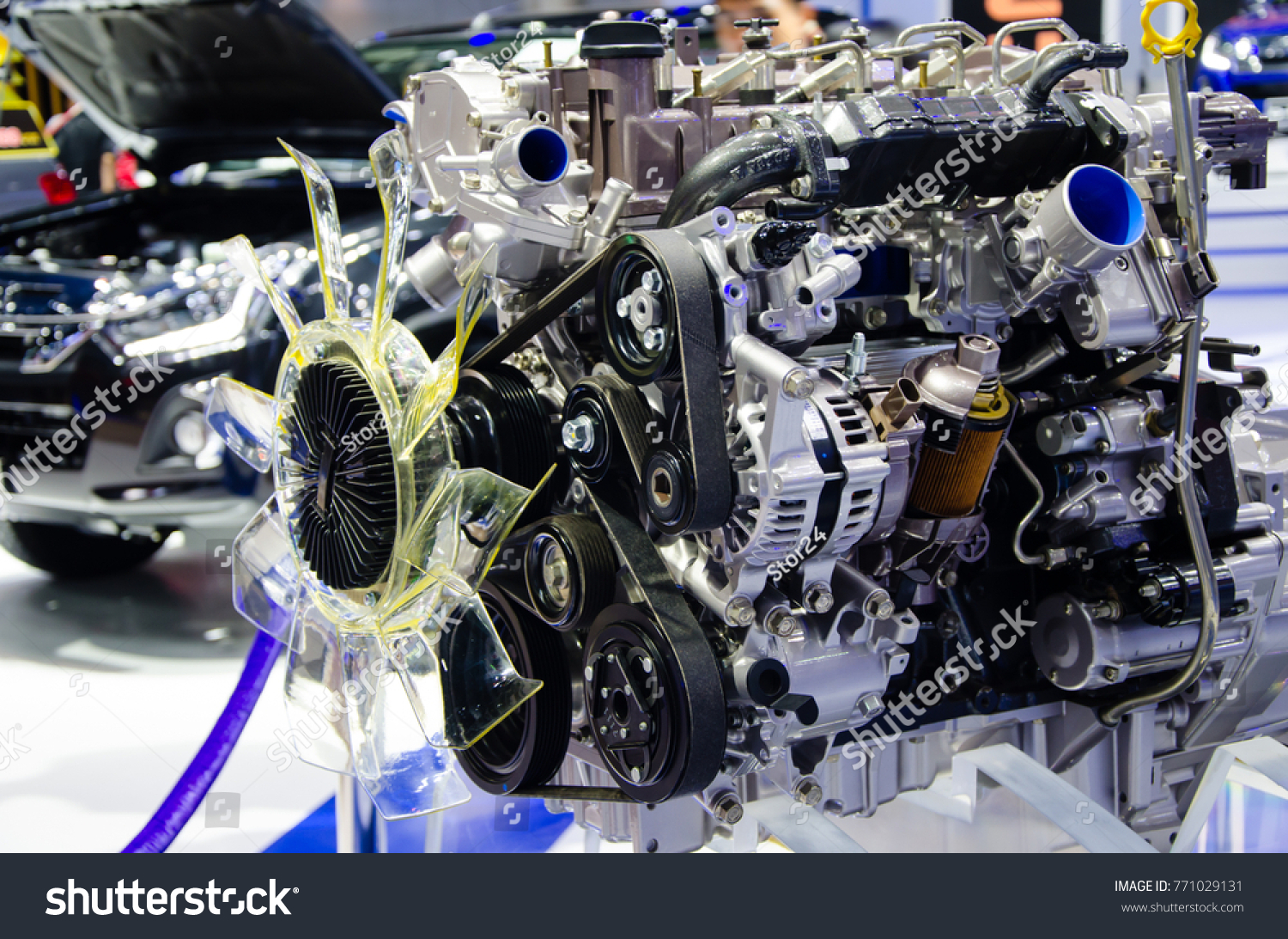Automobile Engineering For Car Engine Part Modern Powerful Turbo Stock Photo Edit Now
