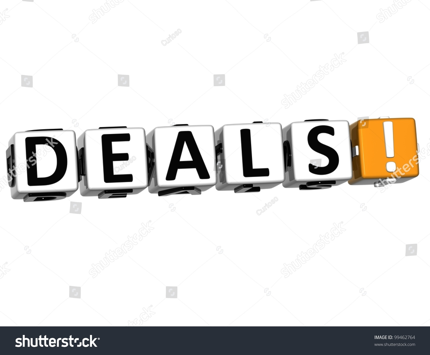 D Deals Royalty Free Stock Illustration Of 3 D Deals Block Text On White
