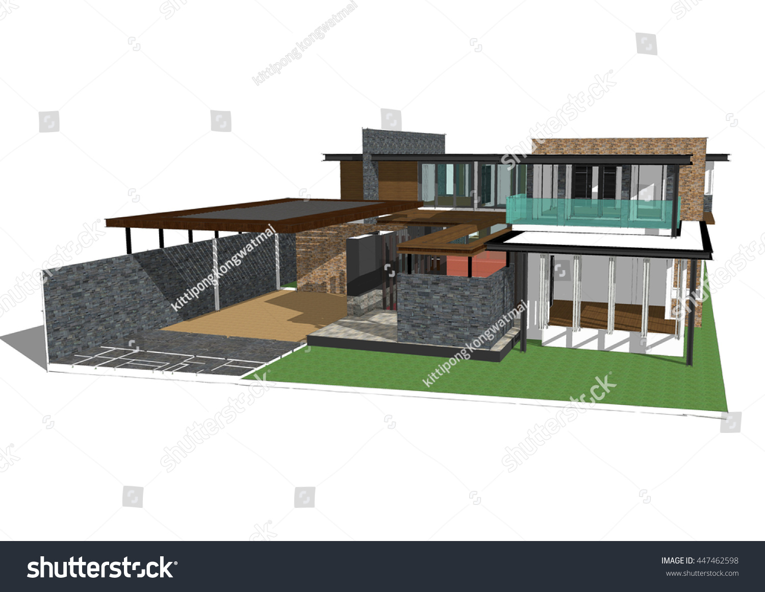 Sketchup Nederlands Royalty Free Stock Illustration Of 3 D Model House Sketchup Stock