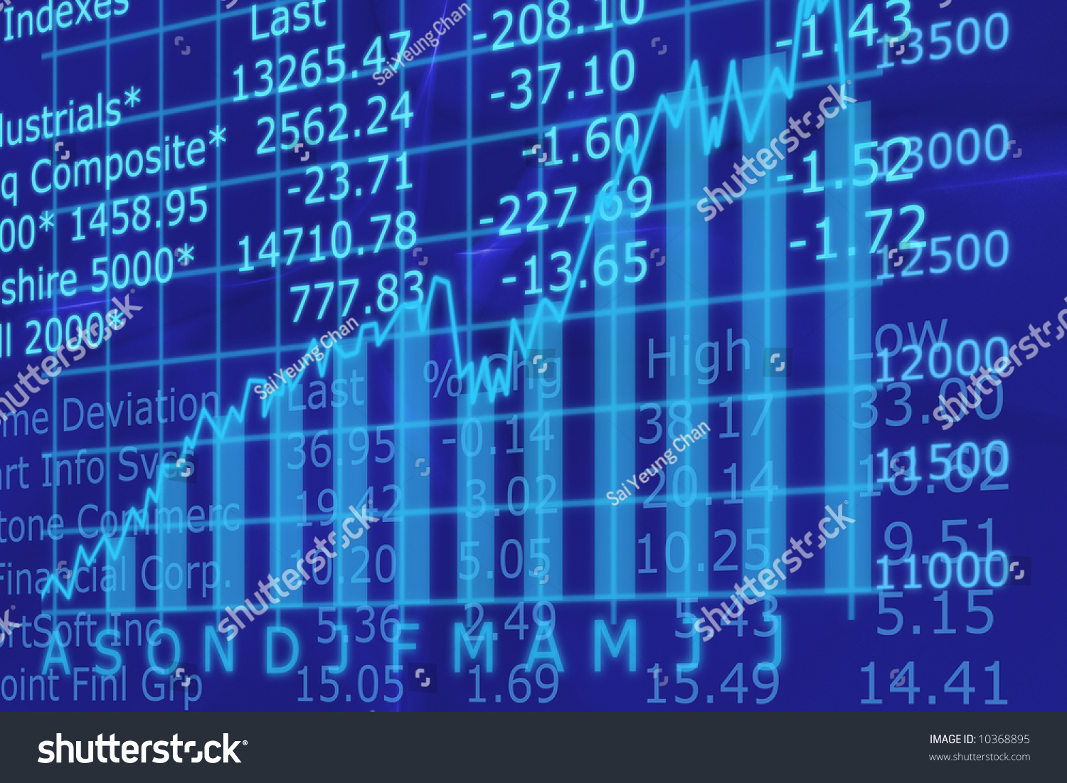 Stock Markets Up 3d Render Stock Market Graph Going Stock Illustration