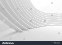 3d White Column Interior Abstract Architecture Stock ...
