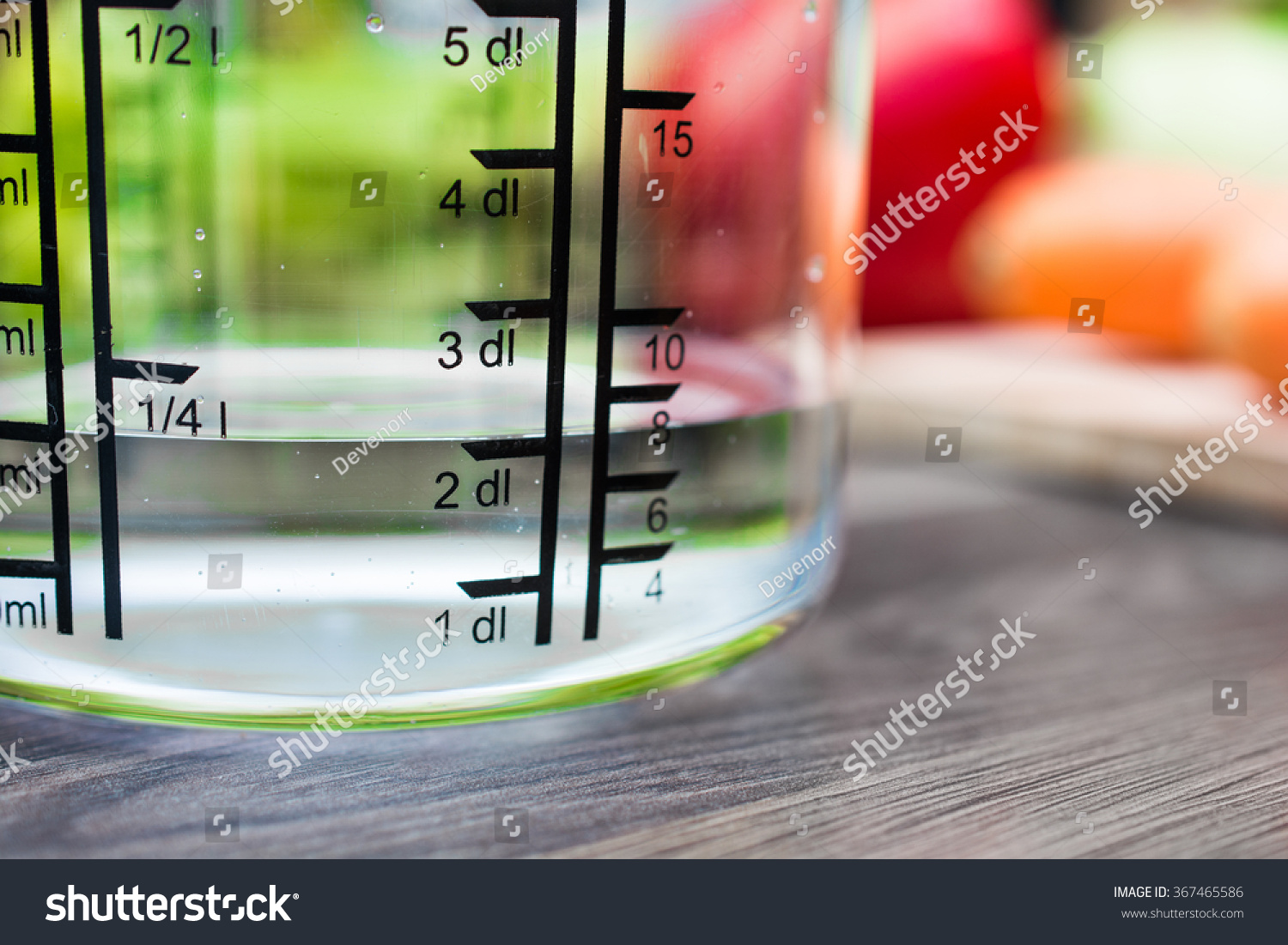 Dl Naar Ml 200 Ml 2 Dl Water Measuring Cup On Stock Photo Edit Now