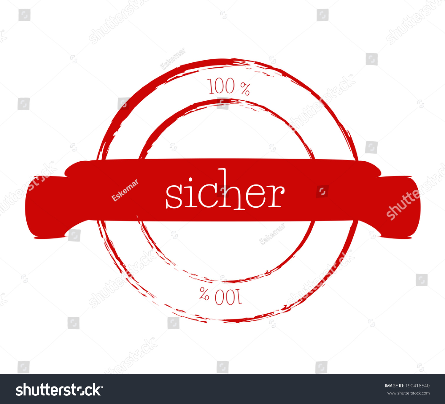 Sicher Safe Royalty Free Stock Illustration Of 100 Sicher Safe German Stock