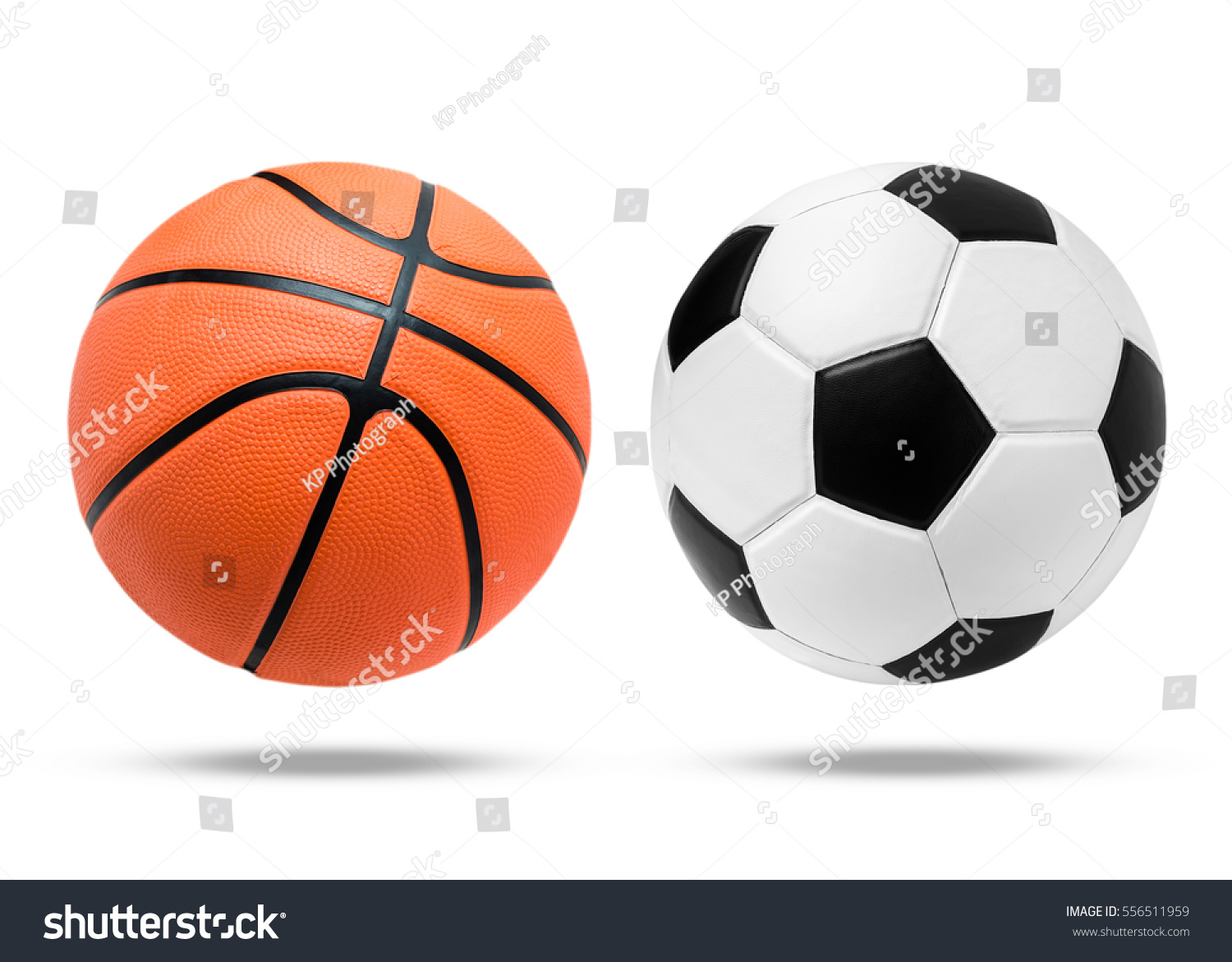 Basketball Ball Soccer Ball Basketball Ball On Isolated Stock Photo Edit Now