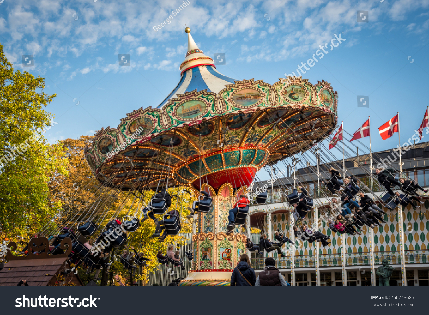 Tivoli Without Rides 19th October 2017 Copenhagen Denmark Tivoli Stock Photo Edit Now