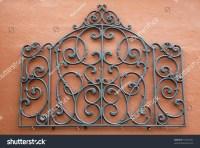 Decorative Piece Wrought Iron Mounted Bright Stock Photo ...