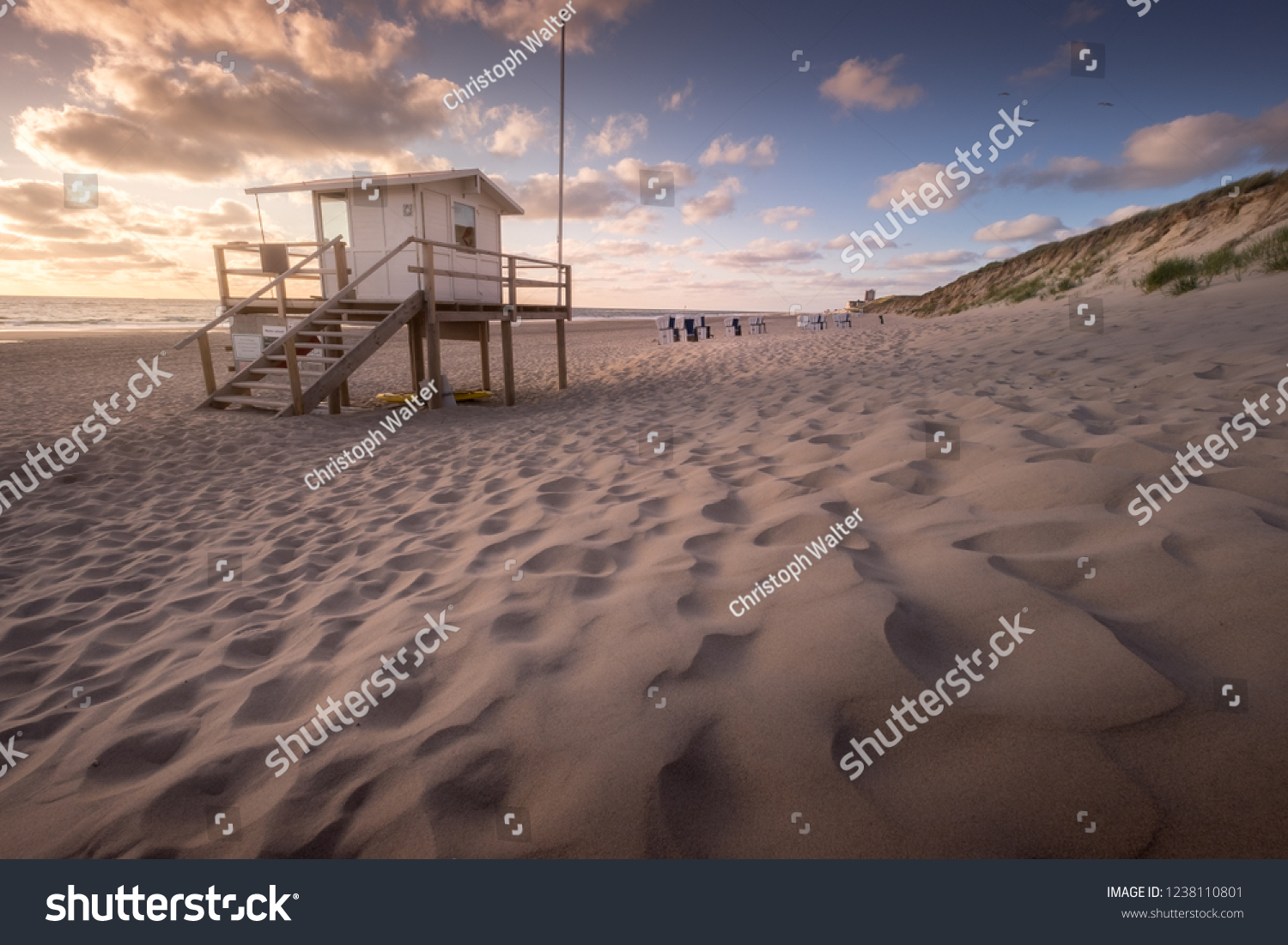 Sun Garden Sylt Quiet Evening Scene Beach Sylt Germany Stock Photo Edit Now