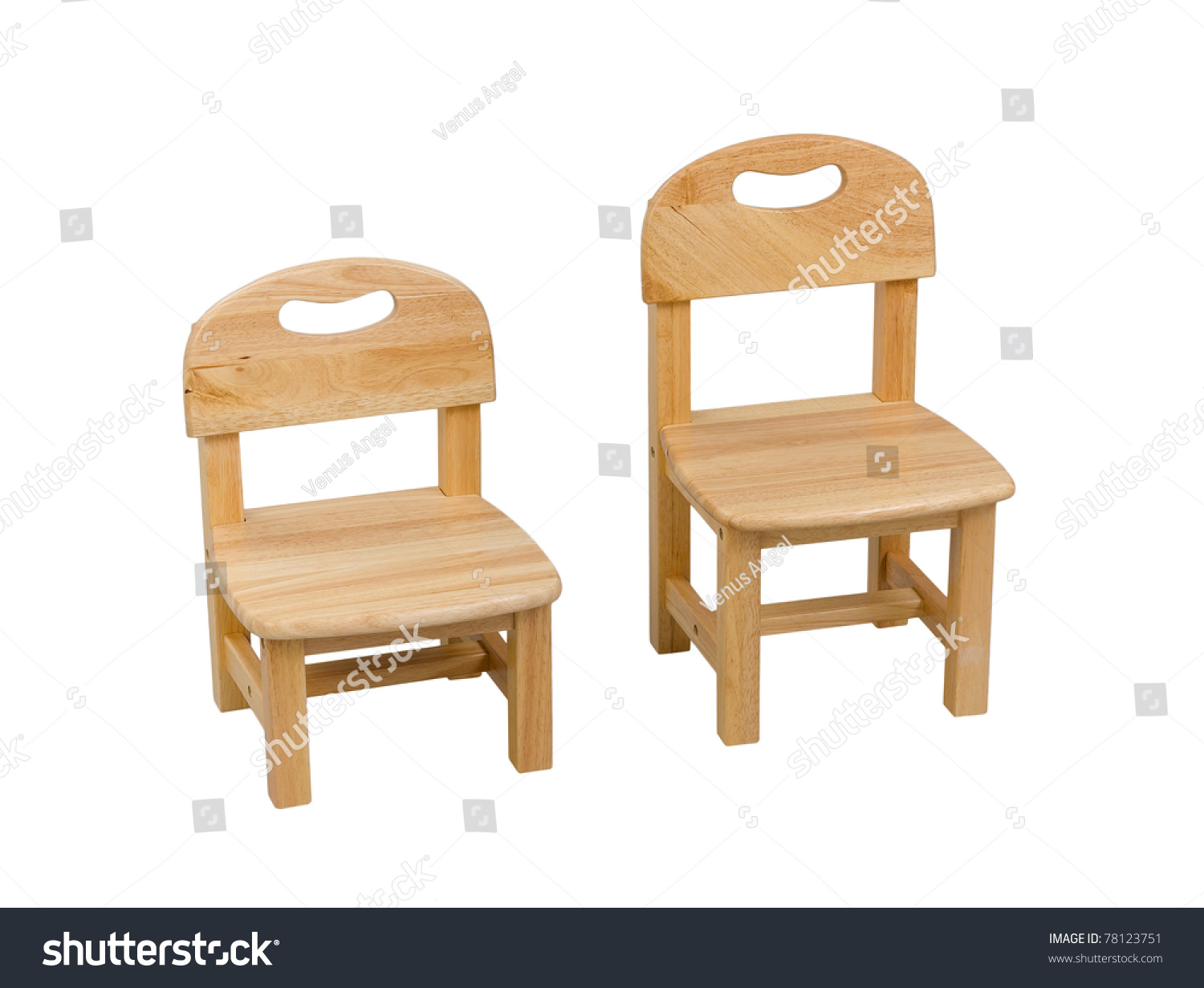 Small Kids Chair Small Wooden Chair Kid Stock Photo 78123751 Shutterstock