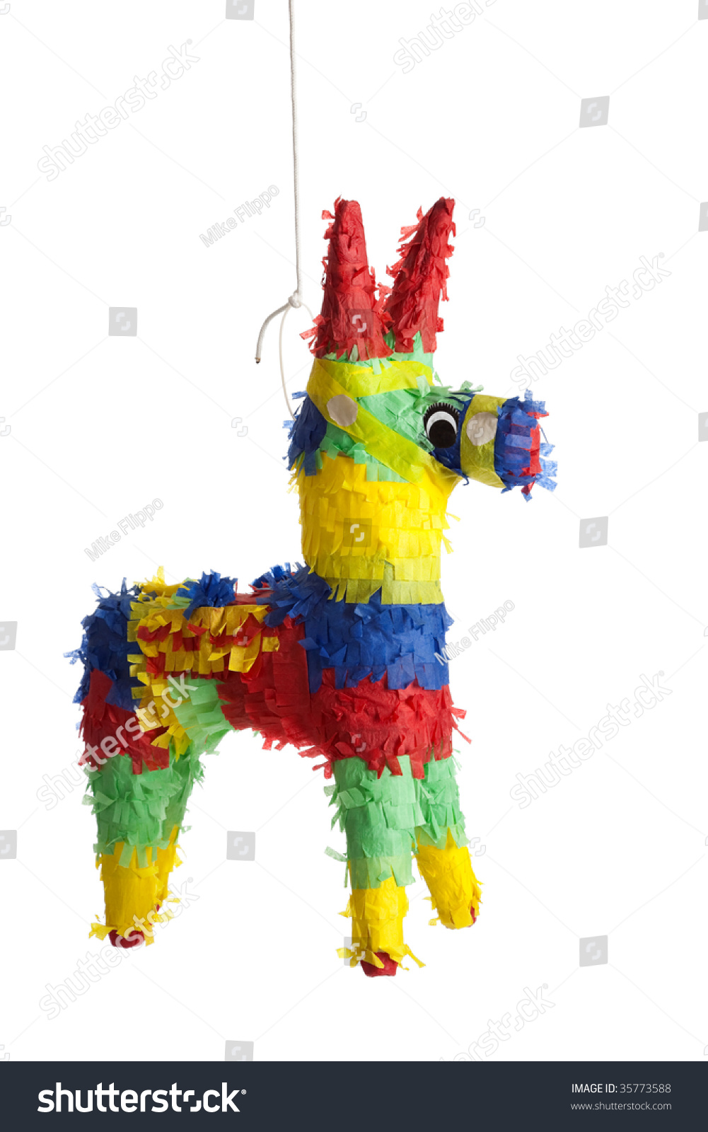 Party Pinata Traditional Primary Colored Mexican Party Pinata Stock Photo Edit