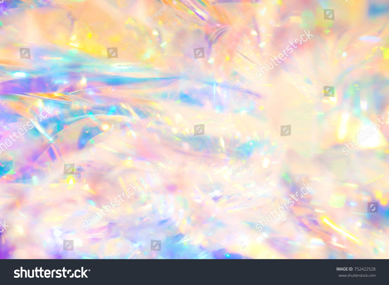 Iridescent Wallpaper Abstract Magical Pastel Colored Wallpaper Background Stock Photo