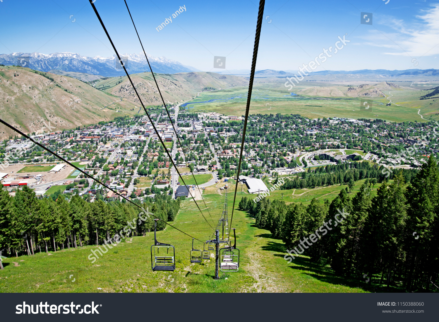 King Jackson Aerial Panoramic View Chairlift Snow King Stock Photo Edit Now