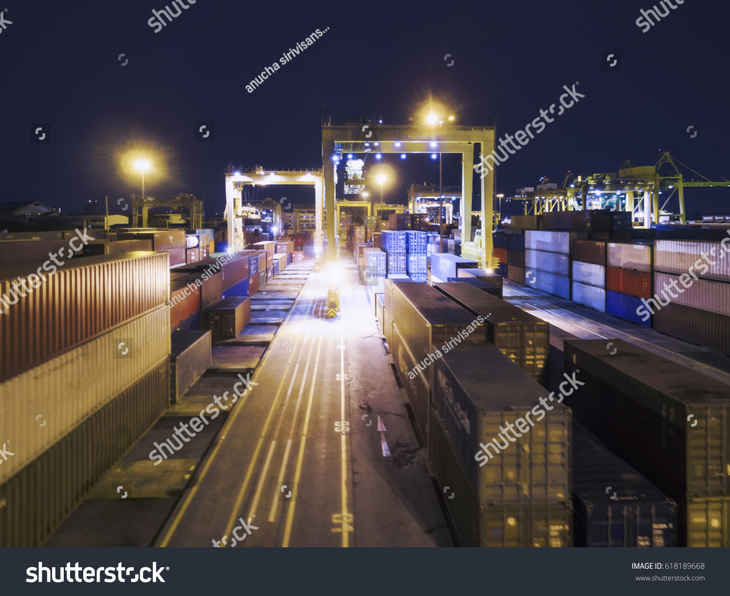 Container Haus Thailand Aerial View Cargo Ship Cargo Container Stock Photo Edit Now