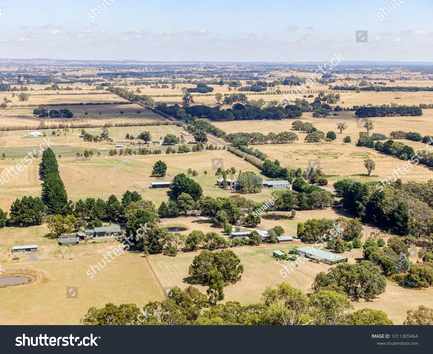 Regional Australia Aerial View Typical Regional Australia Rural Stock Photo Edit Now