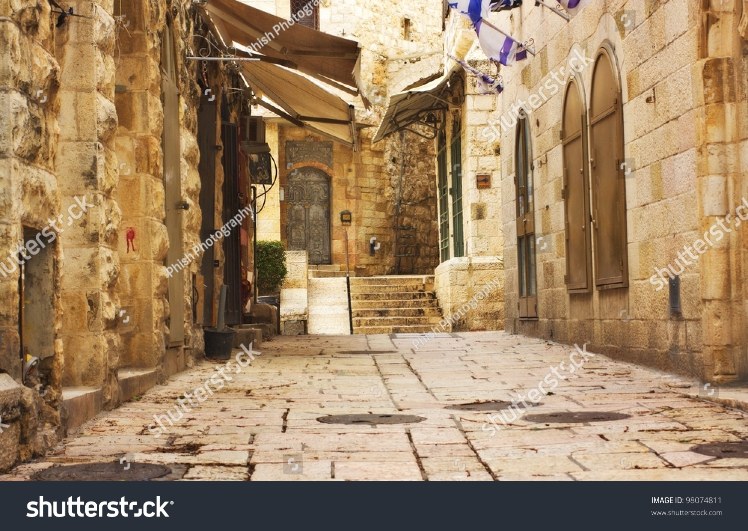 Phish Hd Wallpaper Alley Jerusalem Old City Israel Stock Photo 98074811