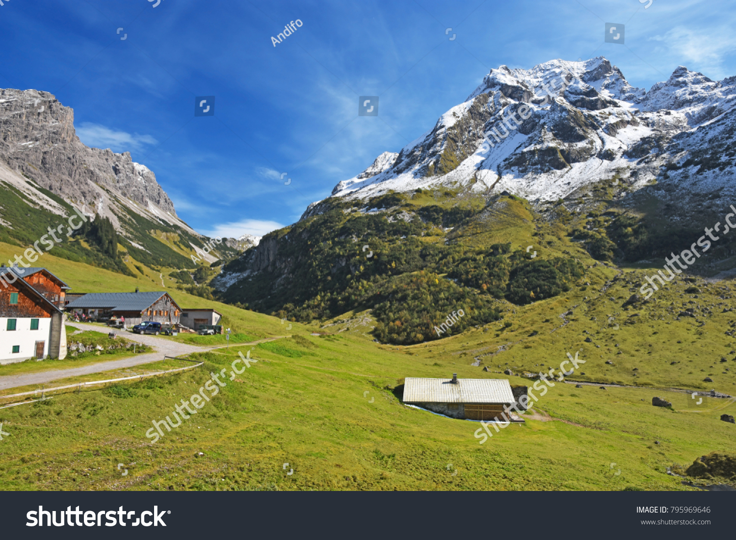 Rote Wand Alp Klesenza Rote Wand Beautiful Day Stock Photo Edit Now