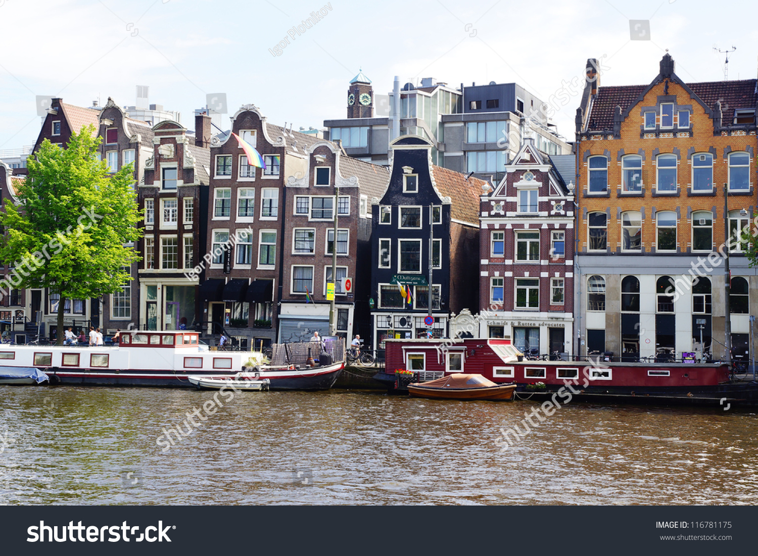 Rent A Boat Amsterdam Amsterdam Holland August 01 Dutch Scenery With Its