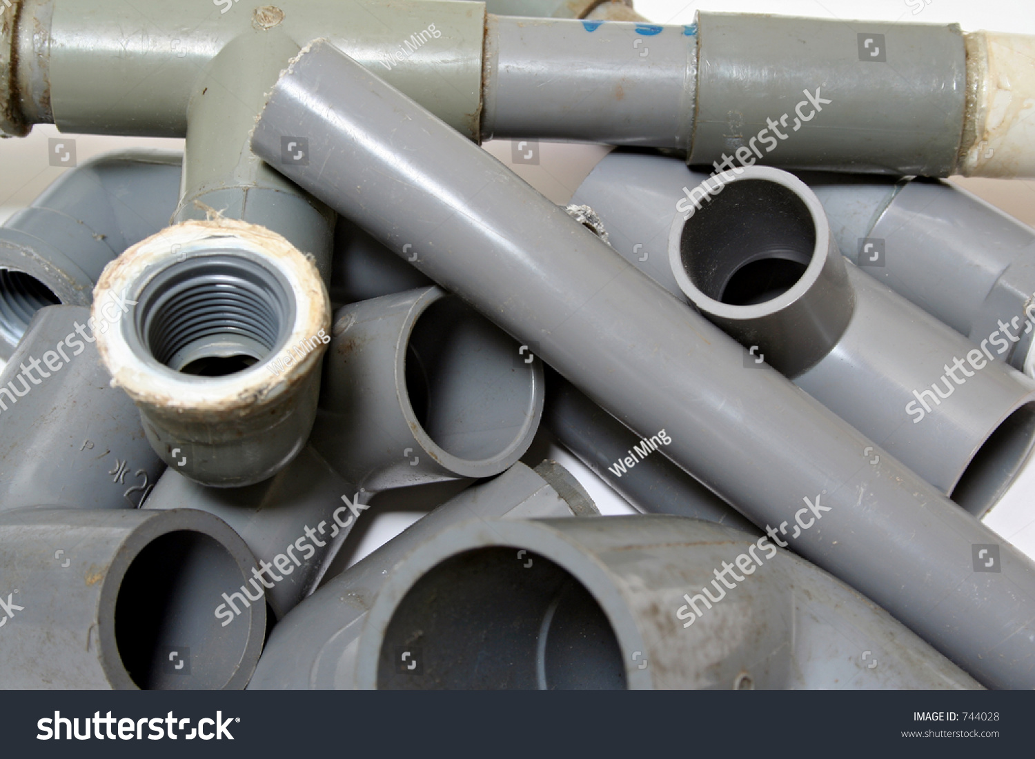 Pvc Joints Assortment Pvc Piping Joints Stock Photo Edit Now 744028