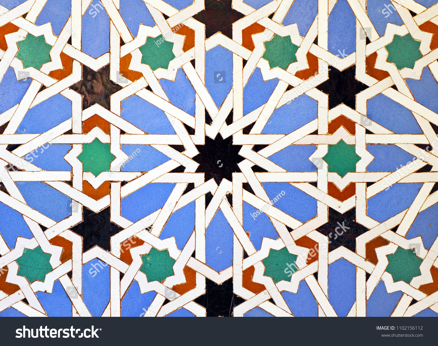 Azulejos Sevilla Arab Tiles Ceramic Mosaic Stars Azulejos Stock Photo Edit Now
