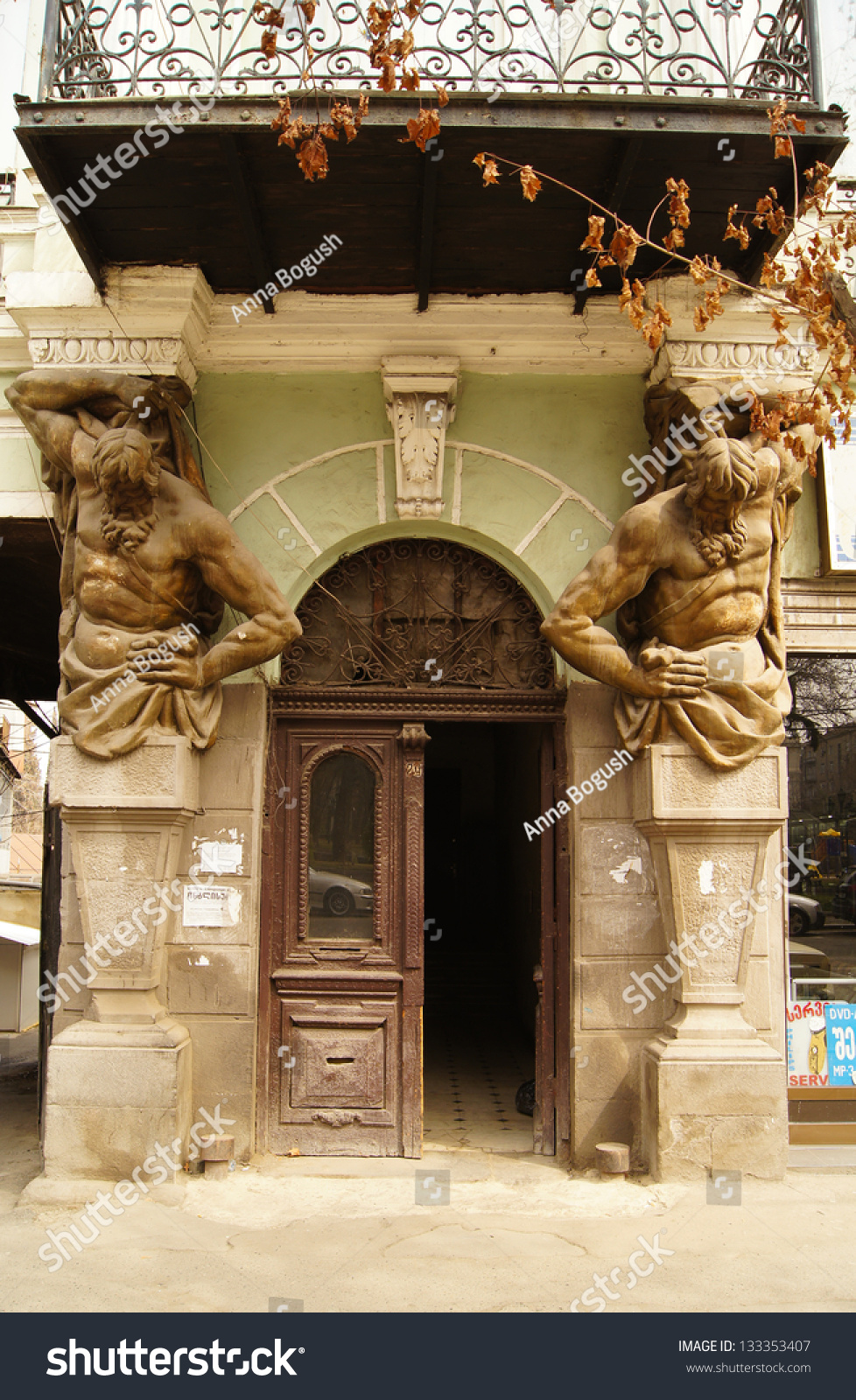 Décoration Art Nouveau Art Nouveau Door Decoration Forged Iron Tbilisi Stock Photo Edit