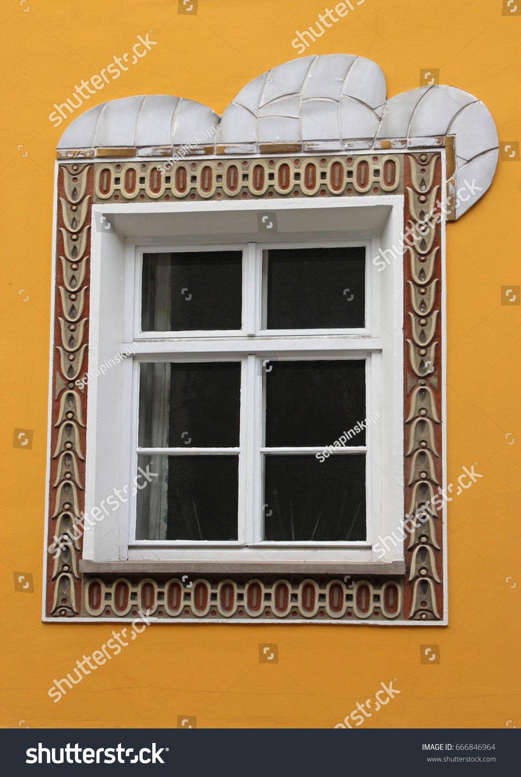 Art Nouveau Yellow Art Nouveau Ornaments Around Window Yellow Stock Photo Edit Now