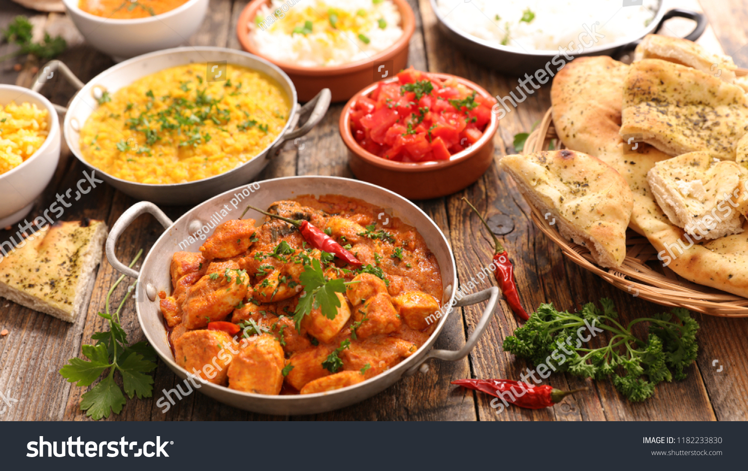 Cuisine India Assorted India Food Cuisine Stock Photo Edit Now 1182233830