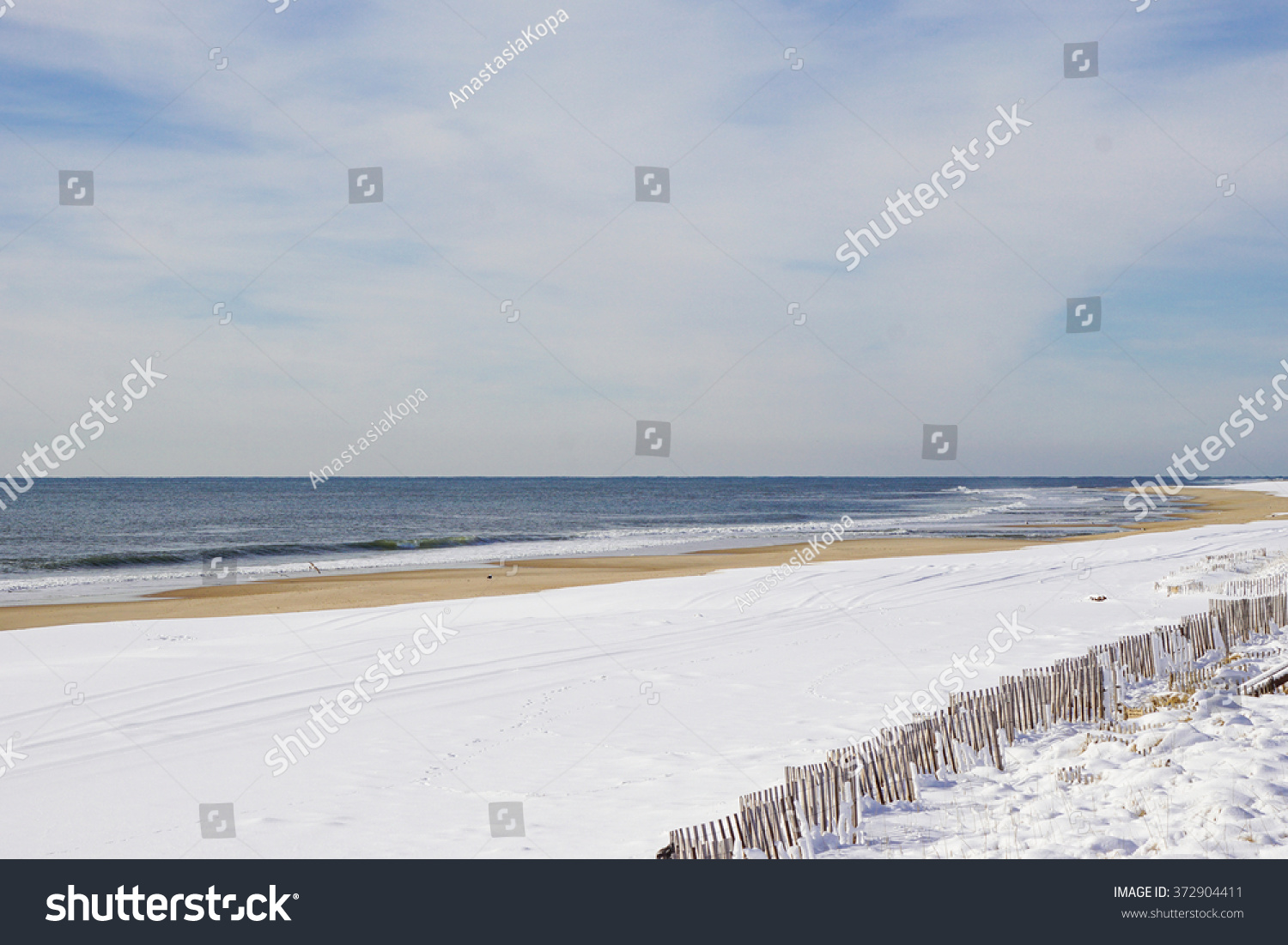 Atlantic ocean waves on the beach at hamptons long island new york suffolk